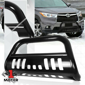 Black 3 Front Bumper Bull Bar Brush Grille Guard For 14 15 16 Toyota Highlander