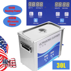 30l Ultrasonic Cleaner Cleaning Machine Liter Industry Heated With Timer Heater