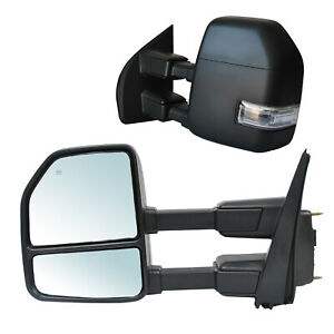 Towing Mirrors For 17 20 Ford F 250 350 450 550 Super Duty Power Heated 22 Pin