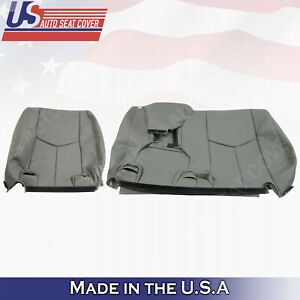 60 40 Rear Lean Back Leather Seat Cover Gray 2003 2006 Chevy Tahoe Suburban