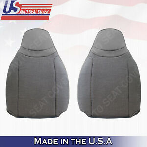 For 2000 2002 Ford Ranger Xl Xlt Driver Passenger Top Cloth Seat Cover Gray