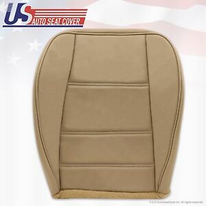 1999 To 2004 Ford Mustang V6 Passenger Bottom Replacement Leather Seat Cover Tan