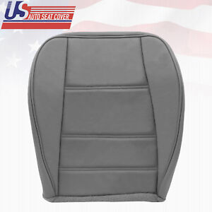 2002 2003 2004 Ford Mustang V6 Front Passenger Bottom Leather Seat Cover Gray