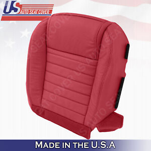 2005 2006 2007 2008 2009 Driver Bottom Red Leather Seat Cover For Ford Mustang