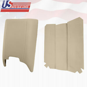 2005 2006 Lincoln Navigator Synthetic Leather Center Console Lid Cover In Tan