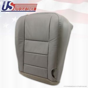 2002 2007 Ford F 350 Lariat Super Duty Driver Bottom Leather Seat Cover Gray