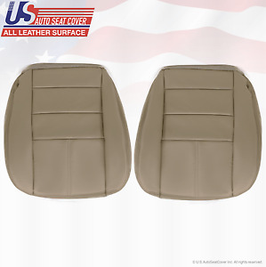 2008 Ford F250 F350 Lariat Driver Passenger Bottom Leather Seat Cover Tan
