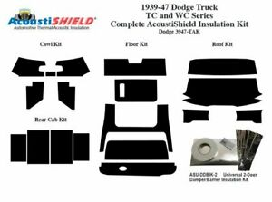 1939 1947 Dodge Truck Complete Acoustic Insulation Kit