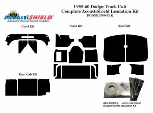 1955 1960 Dodge Truck Complete Acoustic Insulation Kit