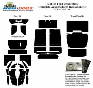 1941 1948 Ford Convertible Complete Acoustic Insulation Kit