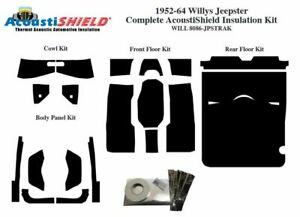1952 1964 Willys Jeepster Complete Acoustic Insulation Kit