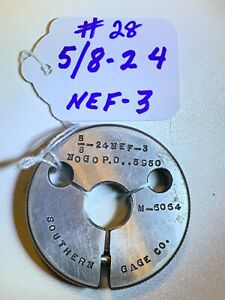 Southerland thread Ring Gage 5 8 24 Nef 3 No Go Pd 5950