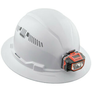 Klein Full Brim Padded Vented Odor resistant Hard Hat White 60407 New