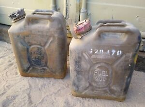 Lot Of 2 Usmc Army Military Us Military Fuel Can 20l Scepter Gas Jerry 5 Gal