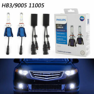 2xphilips Hb3 4 6000k Ultinon Essential Led High Low Beam Headlight Lamp 11005