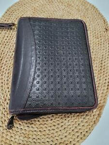 Classic desk 1 Brown Leather Zip Planner Binder Franklin Covey