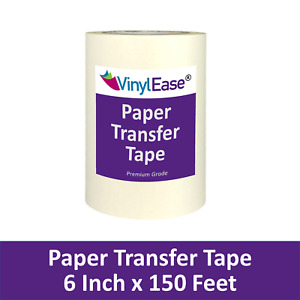 6 In X 150 Ft Roll Paper Application Transfer Tape Sign Craft Vinyl V0843