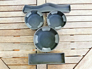02 03 04 05 06 07 09 Chevy Trailblazer Rubber Console Set Cup Holder Inserts 5pc
