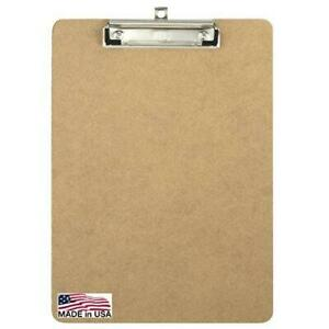 Officemate Recycled Wood Clipboard Letter Size Low Profile Clip 9 X 12 5