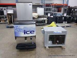 Manitowoc Ib0824yc 800 Lbs Ice water Dispenser Machine With Remote Unit