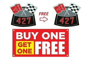 427 Air Cleaner Decal Chevy Chevrolet Air Cleaner 2 Decals Chevelle Camaro Nova