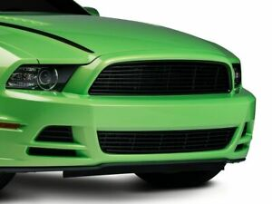 Modern Billet Upper Replacement Grille In Black Fits Mustang 2013 2014 V6