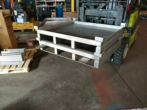 Stainless Steel Heavy Duty Pallet basket forklift conveyor 2500 Lb Cap stackable