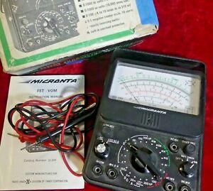 Micronta 22 208 Fet Multitester Multimeter Vom W Probes And Box Solid State Vtvm