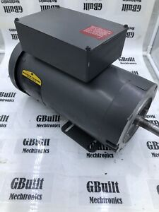 5 Hp Baldor Single Phase Electric Motor 200 Volts 3450 Rpm 24 5 Amps 60hz Reset