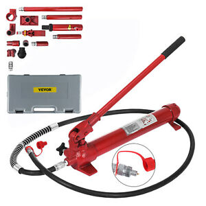 Vevor 10 Ton Porta Power Hydraulic Jack Auto Body Frame Repair Kit Lift Ram
