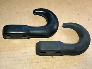 Pair Of Universal Tow Hooks Recovery Jeep Chevy Ford Dodge