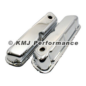 62 85 Sbf Ford 302 Chrome Steel Valve Covers Small Block 260 289 351w New