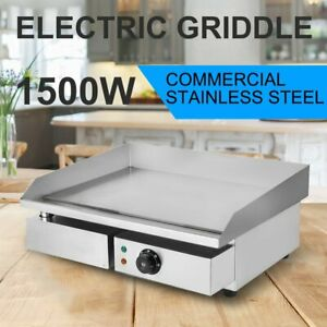 14 1500w Electric Countertop Griddle Flat Top Restaurant Commercial Grill Bbq J