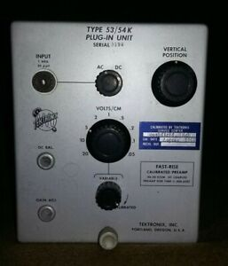 Tektronix 53 54k 30mhz Bandwidth Fast Rise Time Plug In For 500 Series Scopes
