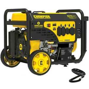 Champion 201004 7500 Watt Electric Start Generator W Rv Outlet Wireless
