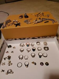 Fab Retailable Sterling Silver Jewelry Lot Not Scrap 50 Items Gems Pearls