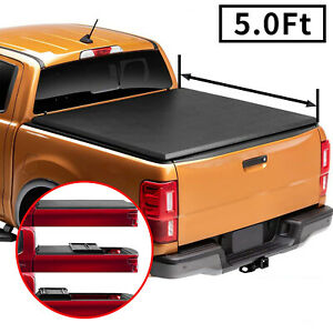 For 2016 2020 Toyota Tacoma 5 Ft Soft Tri Fold Truck Bed Tonneau Cover