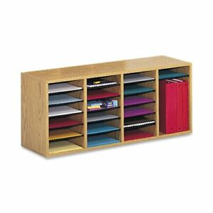 Safco 24 Compartment Adjustable Shelves Literature Organizer 16 4 Height X