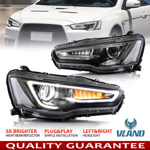 Headlights For Mitsubishi Lancer Evo X 2008 2017 Audi Style Drl Led Front Lamps