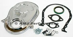 66 90 Big Block Chevy 454 Chrome Timing Chain Cover Kit 396 402 427 Bbc New