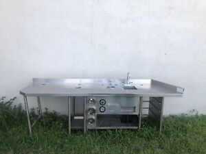 Stainlees Steel Table With Sink