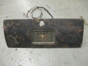 Vintage 1939 Chevy Car Or Woody Glove Box Door With Clock