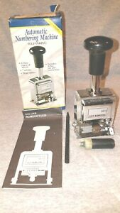 Rogers Automatic Numbering Stamp Machine Self Inking Never Used