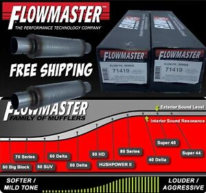 Flofx71419 By Flowmaster Bullet 3in C C Round 4 X14 X20 2 Mufflers