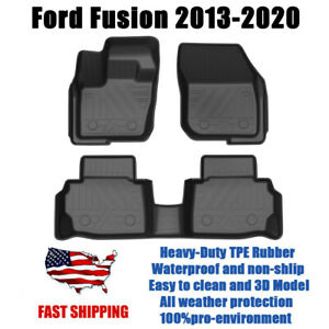 Car Tpe Floor Mats Liner For Ford Fusion 2013 2014 2015 2016 2017 2018 2019 2020