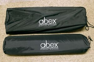 Abex 250 Pop up Trade Show Display Collapsible Frame Spacer Bars Carry Bags