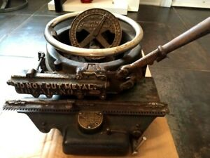 Vintage Ideal Stencil Machine Co Press Punch Hand Operated Stencil Cutter