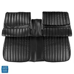 1971 1972 Cutlass Front Bench Without Arm Rest Seat Covers Black Set 100