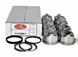 Flat Top Pistons W Rings For Ford Fe 360 390 1968 1976 V8