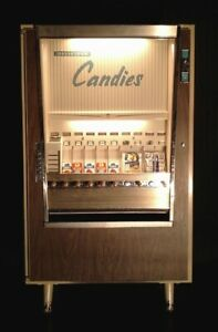 National Vendors Vintage Candy Vending Machine Everything Works Series Cm